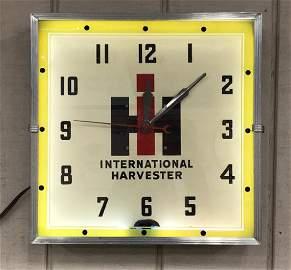 International Harvester Neon Clock