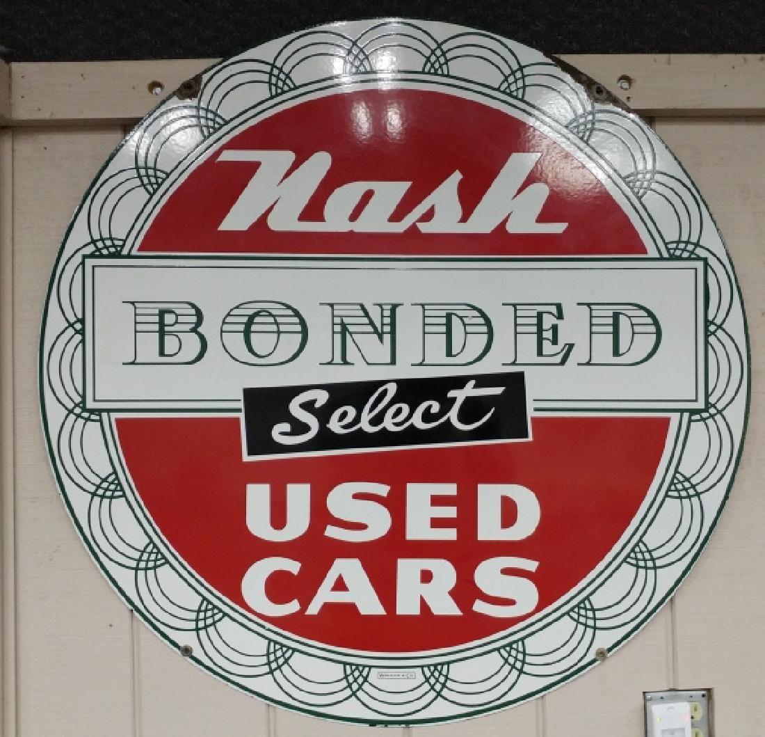 Nash Bonded Select Used Cars Sign