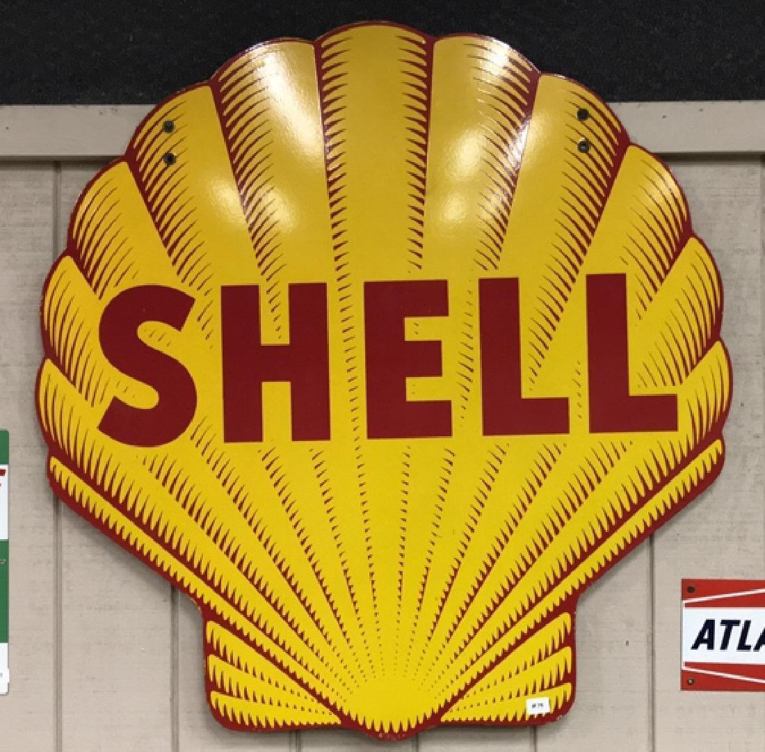 Shell Porcelain Service Station Sign