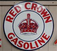Red Crown Gasoline Sign