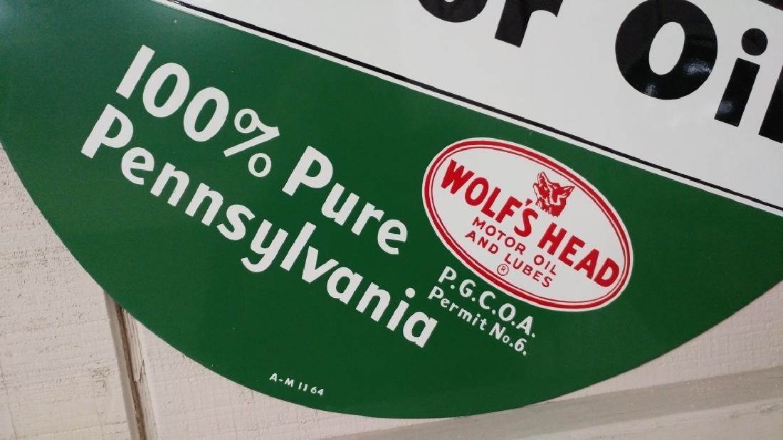 Wolf's Head Motor Oil Tin Sign - 3