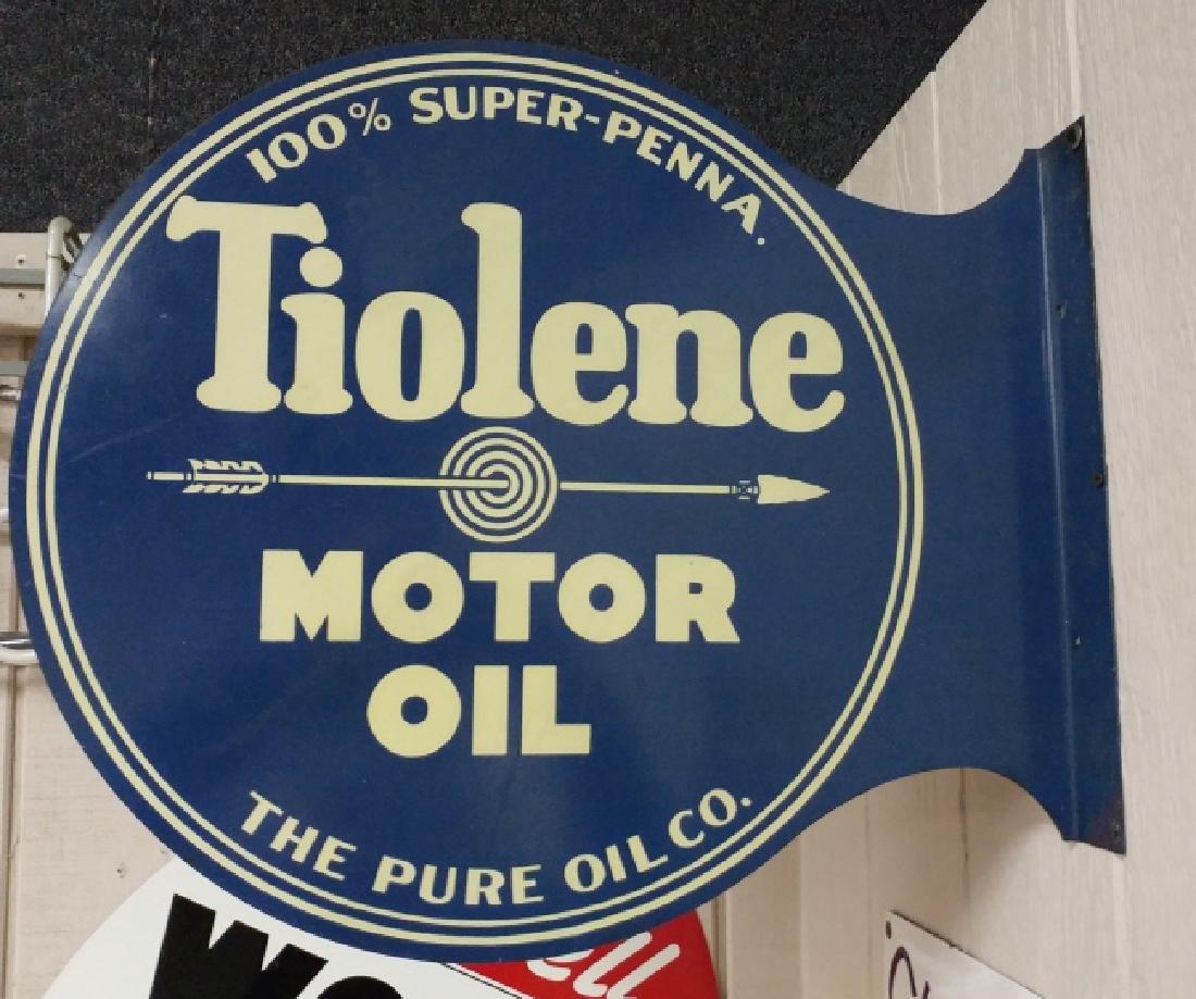 Tiolene Motor Oil Flange Sign
