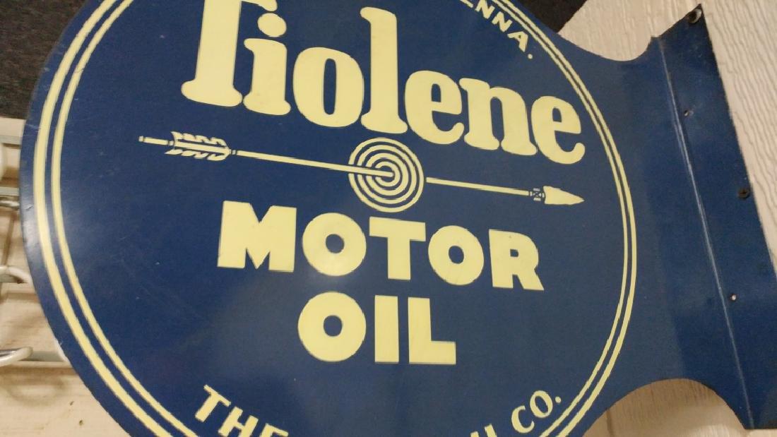 Tiolene Motor Oil Flange Sign - 2
