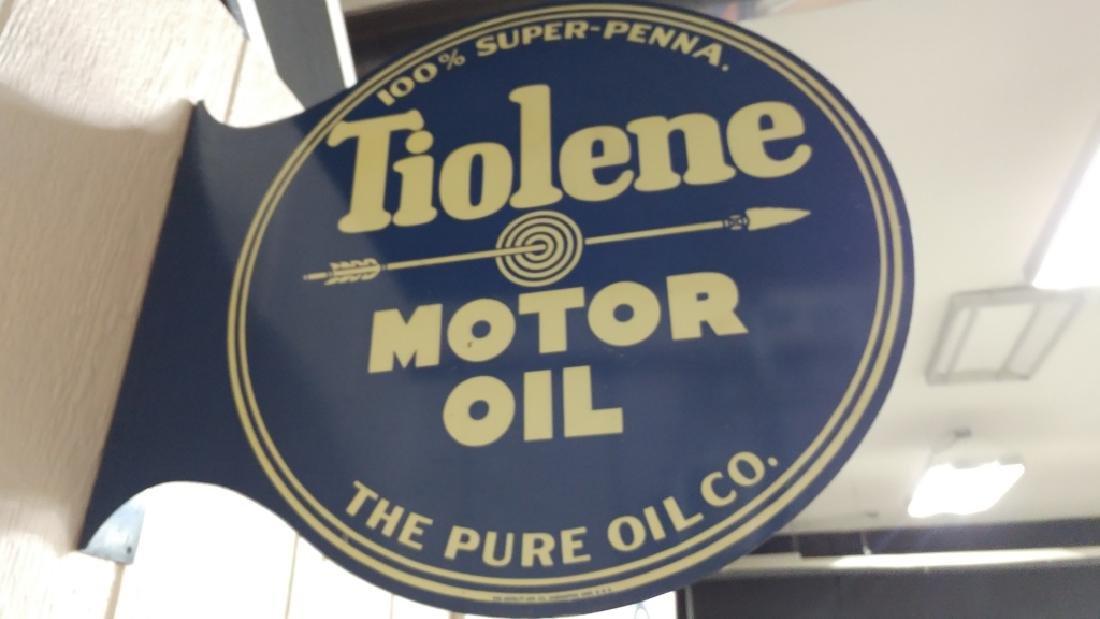 Tiolene Motor Oil Flange Sign - 3