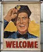 """Welcome"" Richfield Gasoline on Canvas"