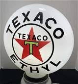 Texaco Ethyl Single Piece Glass Globe 16â€