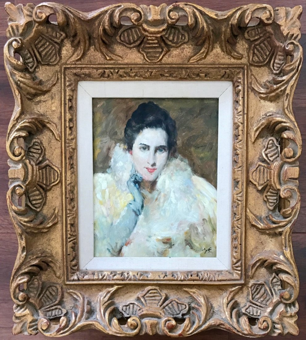 French Impressionist Oil Painting On Canvas, Signed Dyf