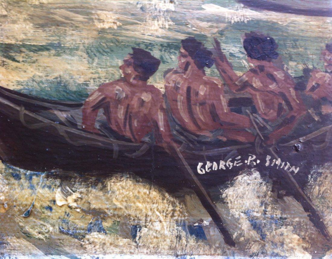 Painting On Wood Panel, British Galleon, G. P. Smith - 2
