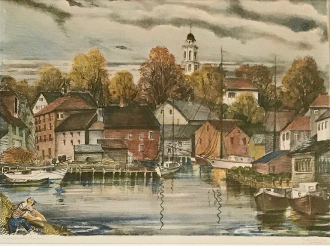 Emil Ganso (American, 1895-1941) Kennebunkport Harbor