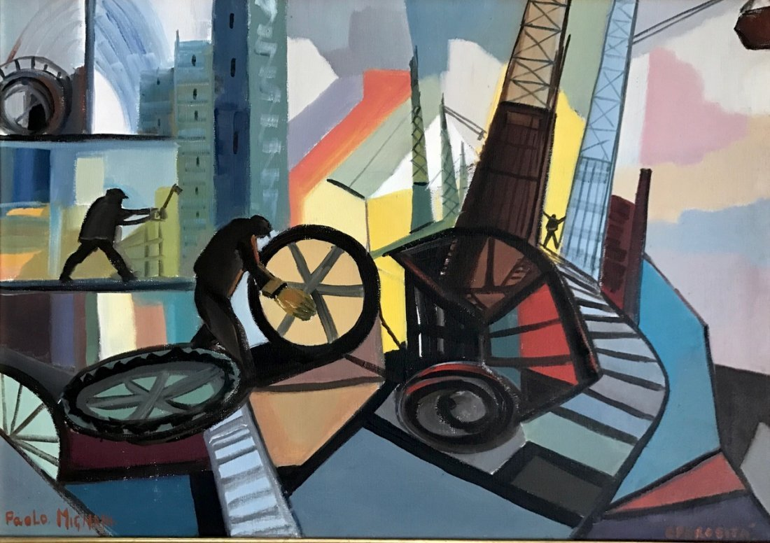 """Industrial Oil Painting, Paola Mignani """"Operosita"""""""
