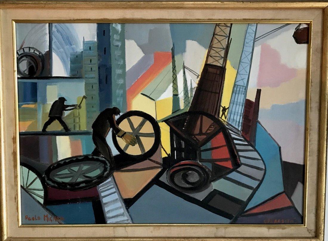 """Industrial Oil Painting, Paola Mignani """"Operosita"""" - 4"""