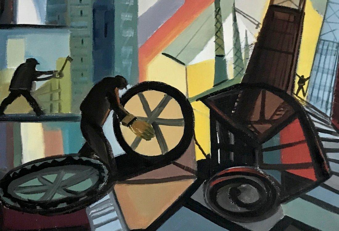 """Industrial Oil Painting, Paola Mignani """"Operosita"""" - 5"""