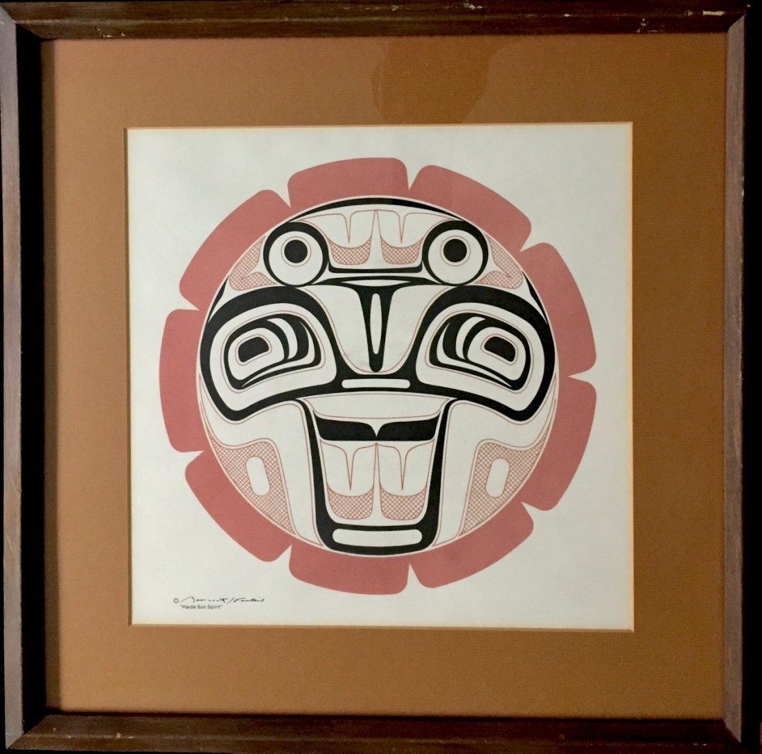 Haida Spirit Serigraph, Pacific Northwest Coast Indian