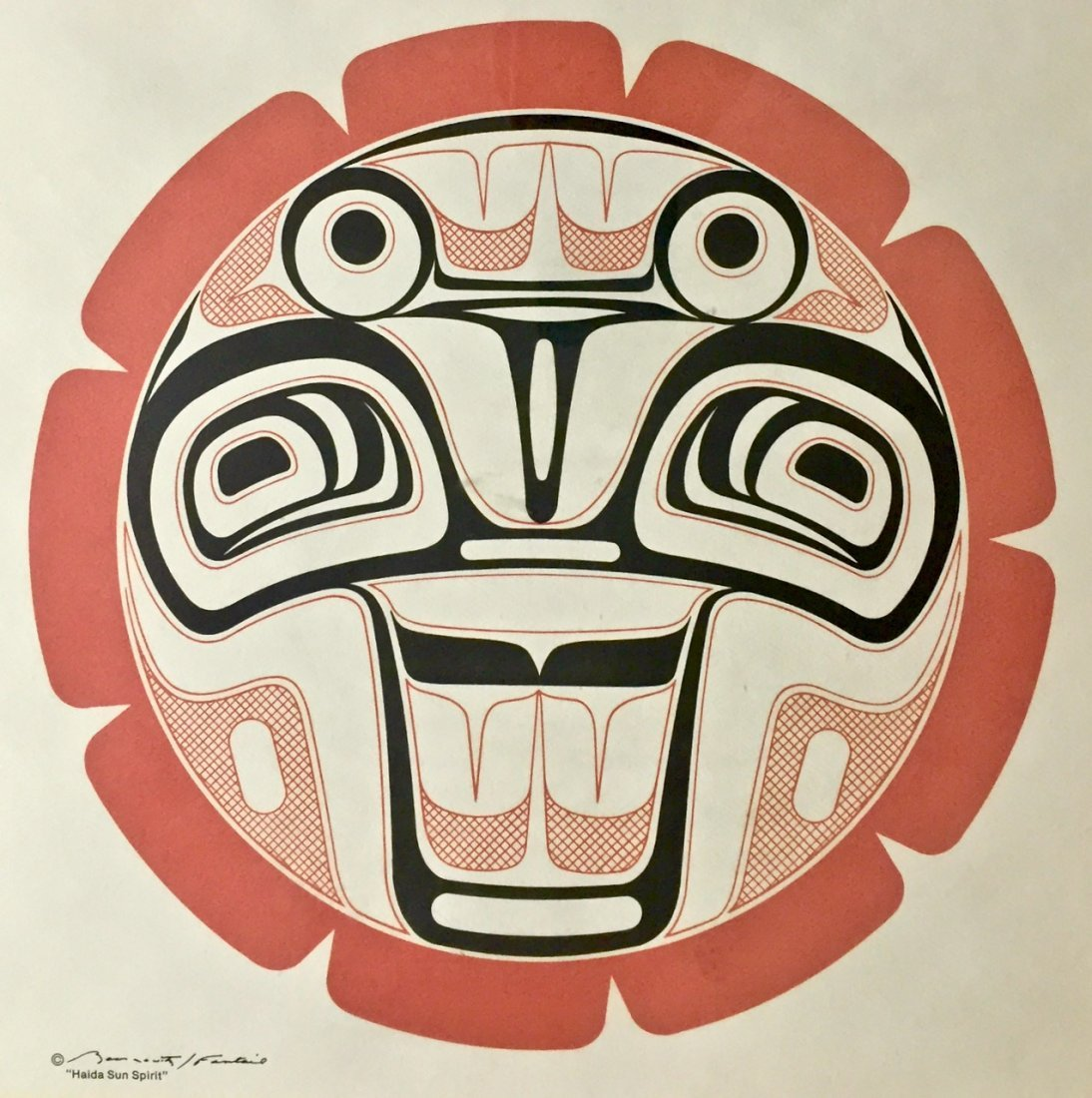 Haida Spirit Serigraph, Pacific Northwest Coast Indian - 3