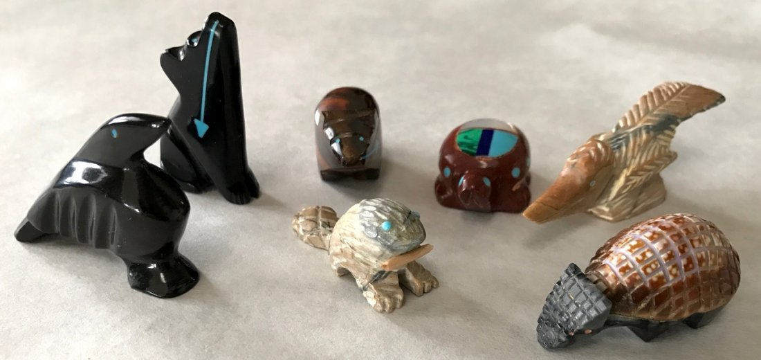 Native American Zuni Stone Fetishes (7)