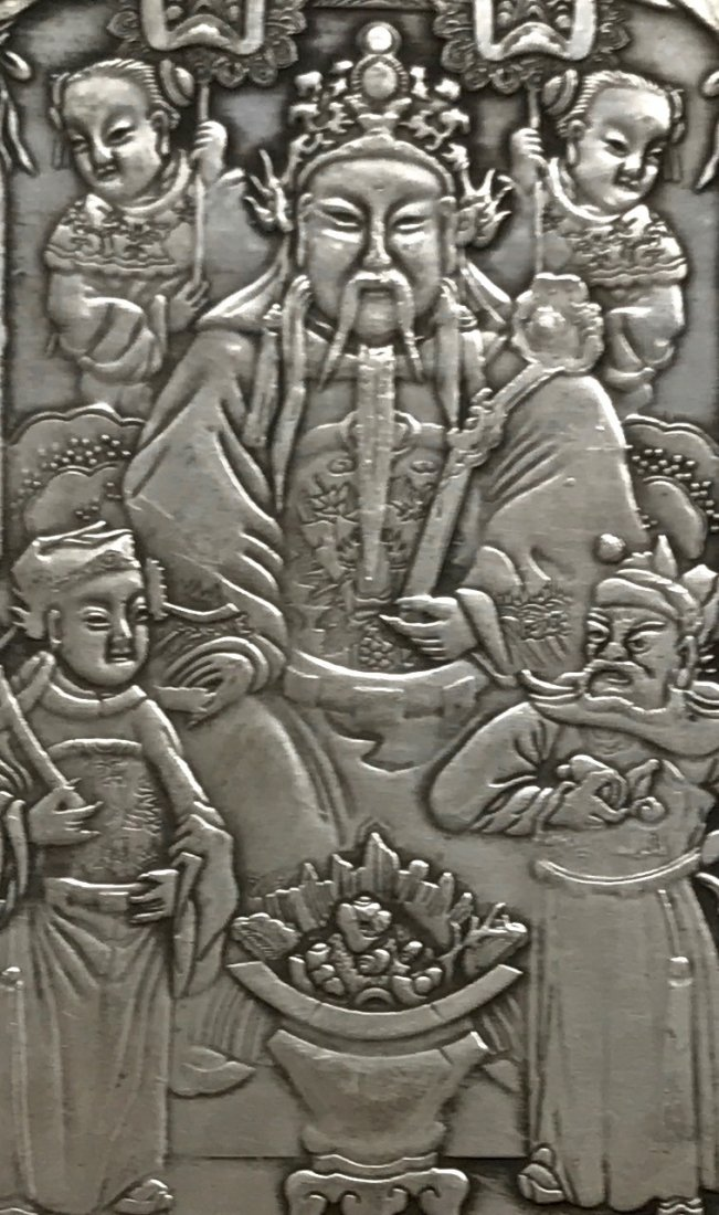 Signed Chinese Silver Plaque - 3