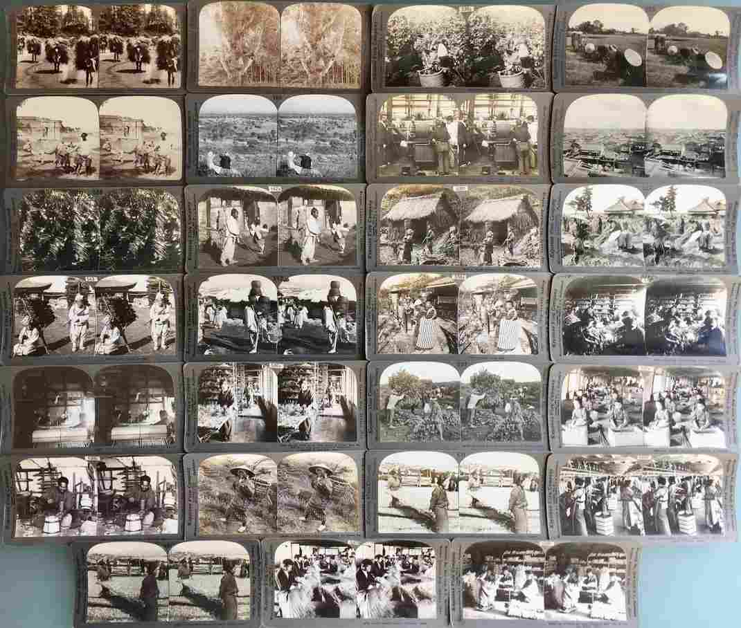 Stereoview Cards: China, Japan India Korea