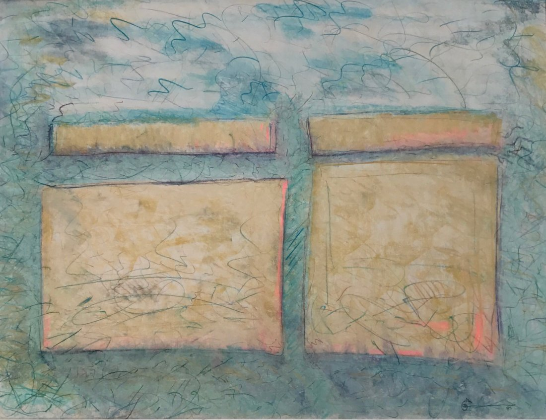 Tabo Toral Modernist Abstract painting,1985