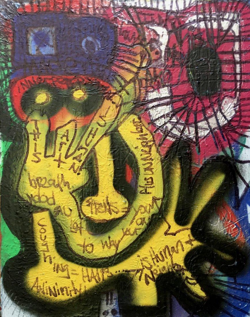 N.Y.C. Urban Graffiti Painting, This Art Is Human