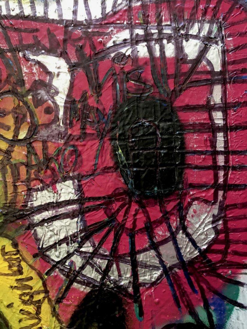 N.Y.C. Urban Graffiti Painting, This Art Is Human - 3