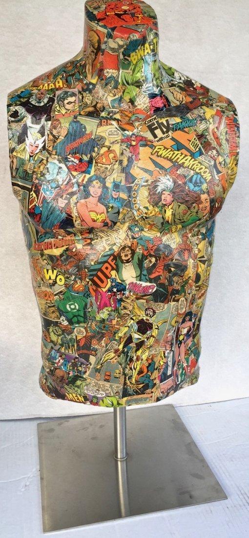 Pop Art Super Hero Collage Sculpture, Sabra