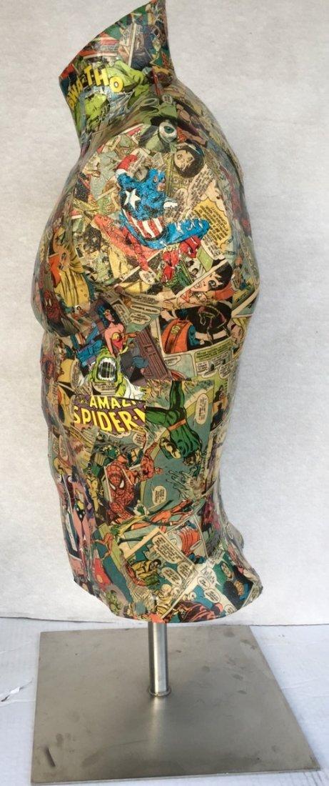 Pop Art Super Hero Collage Sculpture, Sabra - 4