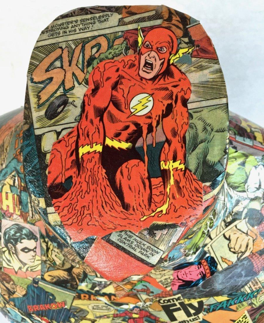 Pop Art Super Hero Collage Sculpture, Sabra - 5