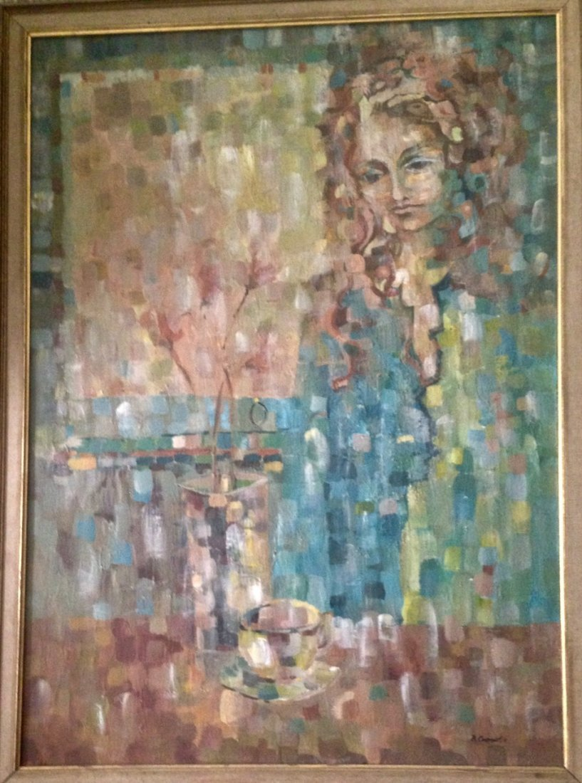 Modernist Abstract Expressionist Oil Painting, Signed - 4