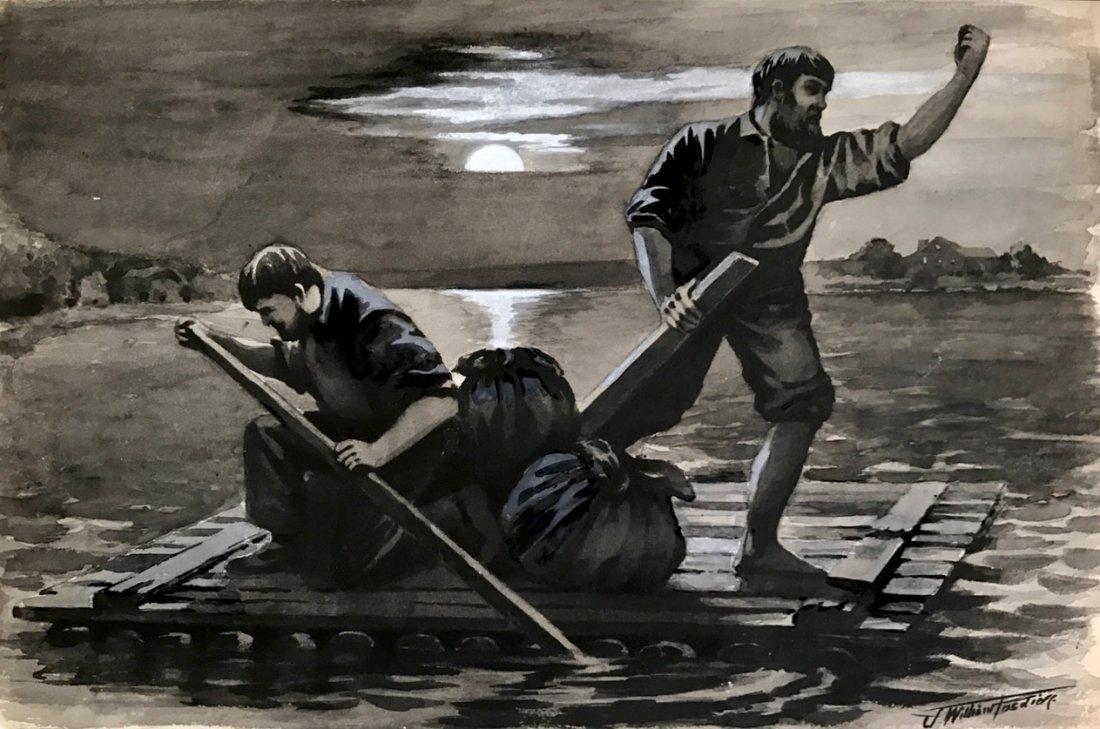 J. William Fosdick, Mural Study Painting