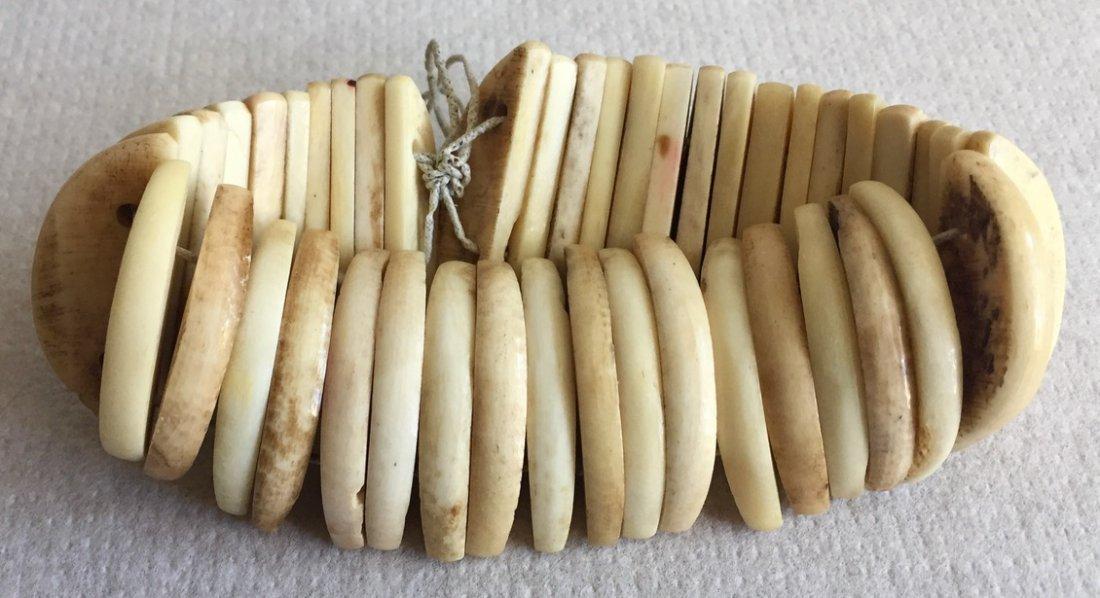 Antique Carved Bone Bangle Bracelet