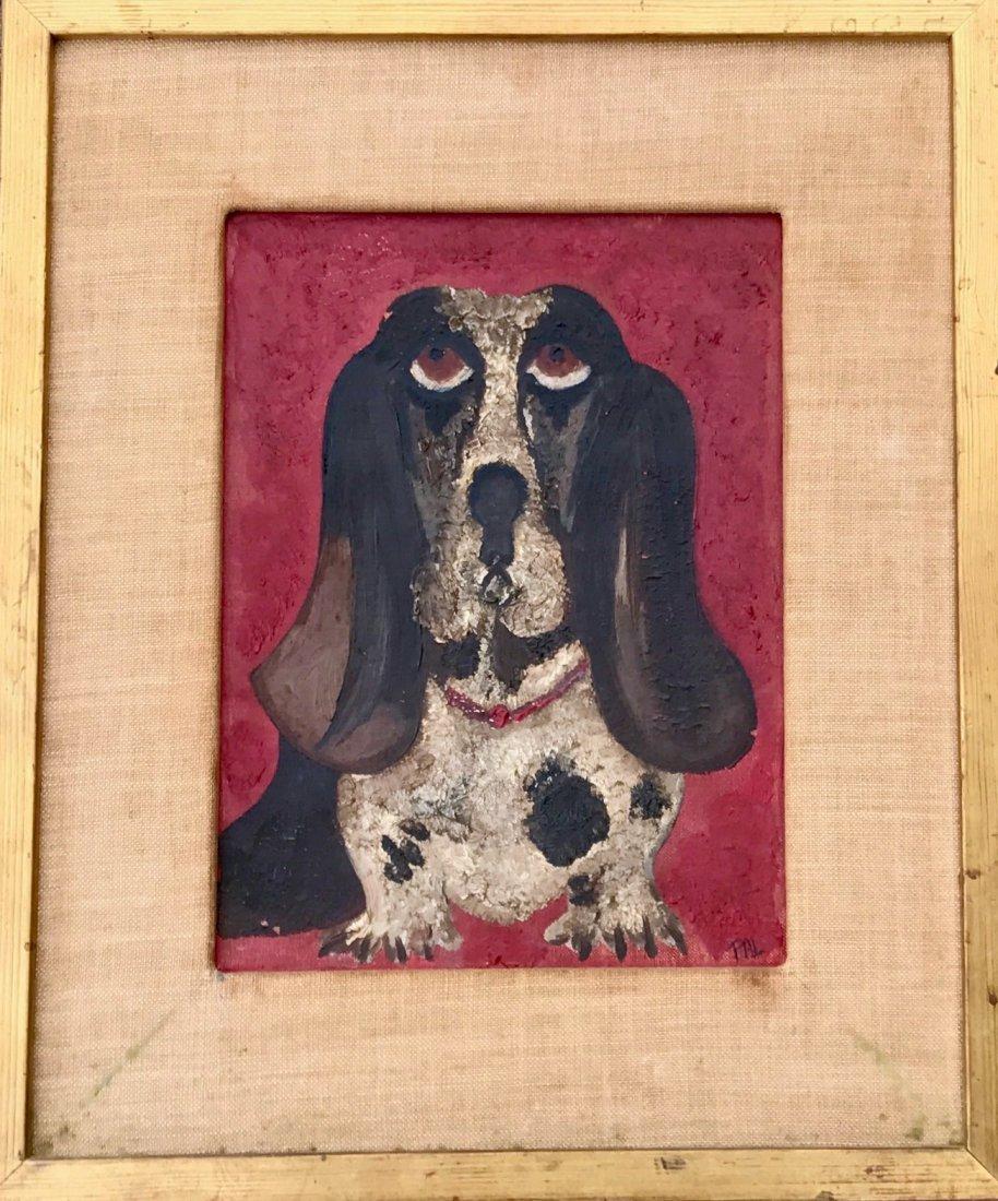 "American Hound Dog Folk Painting ""PAL"""