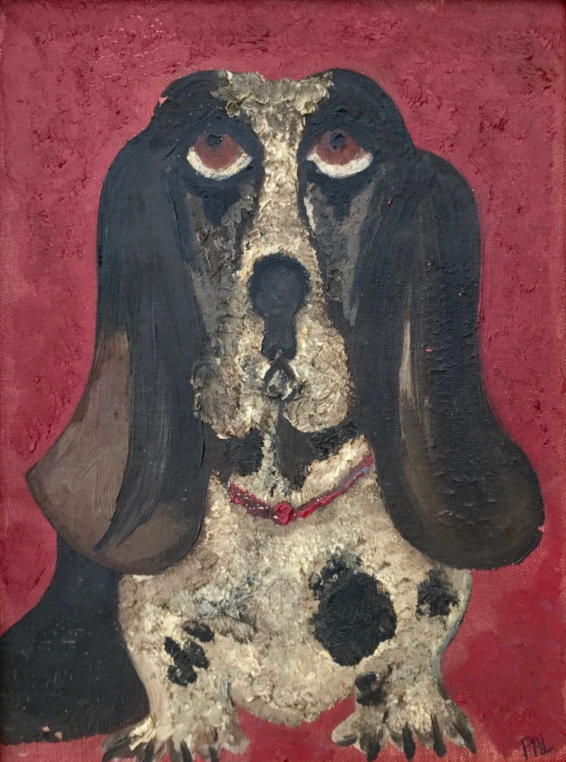 "American Hound Dog Folk Painting ""PAL"" - 3"