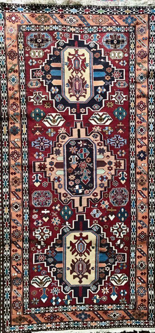 "Semi-antique Handwoven Persian Rug, 83"" x 42"""