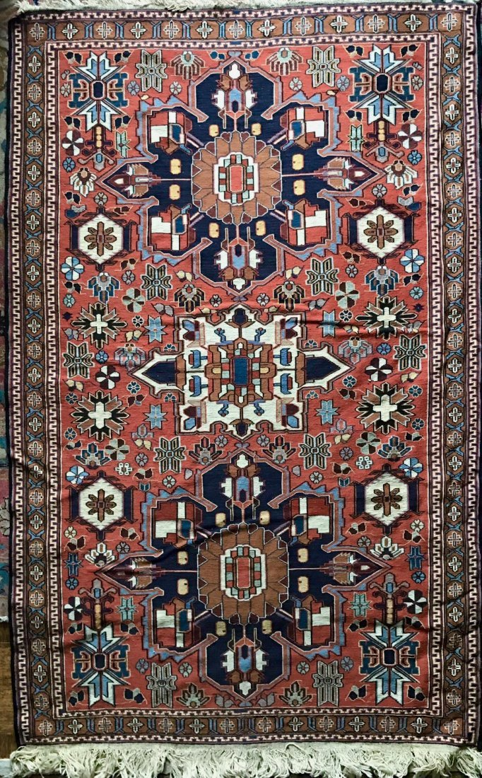 "Semi-antique Handwoven Persian Rug, 75"" x 46.5"""