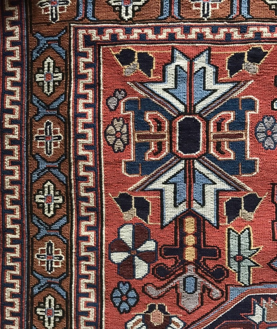 "Semi-antique Handwoven Persian Rug, 75"" x 46.5"" - 5"