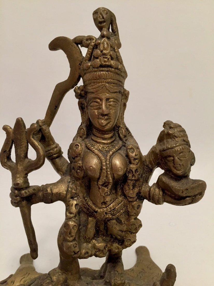Hindu Deity Statue, Kali & Shiva - 3