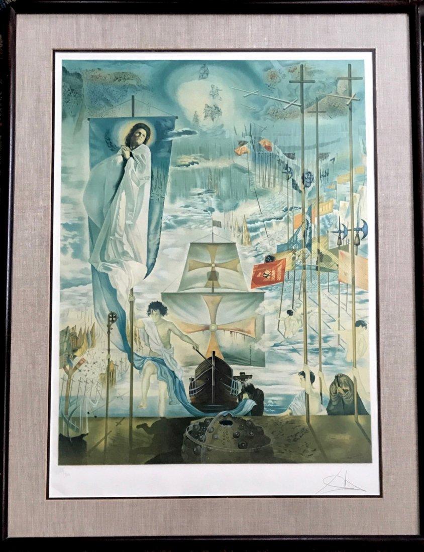 "Salvador Dali ""Columbus Discovers America"" 1962"