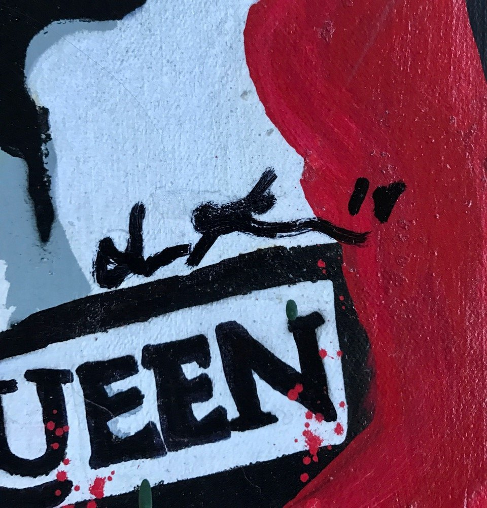 """Freddie Mercury """"God Save The Queen"""" Painting, Signed - 2"""