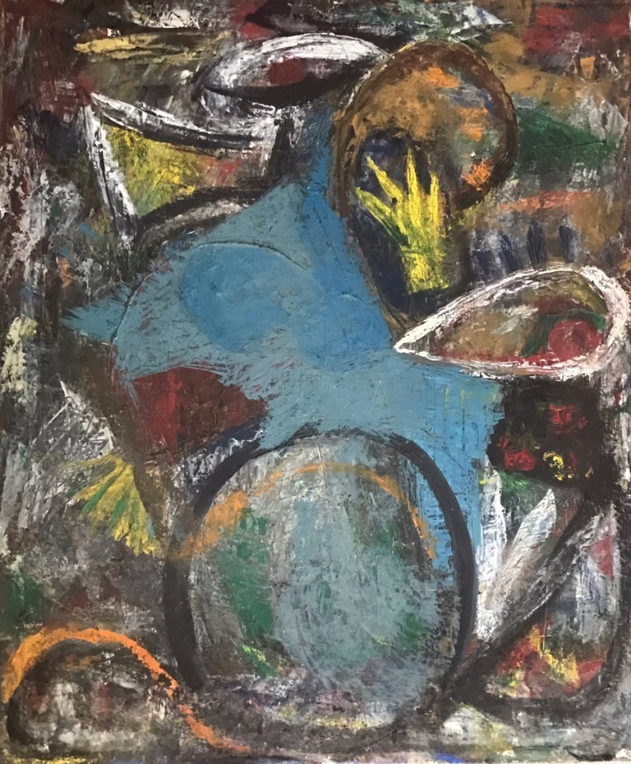 American Abstract Expressionist Oil Painting, J. Spodek