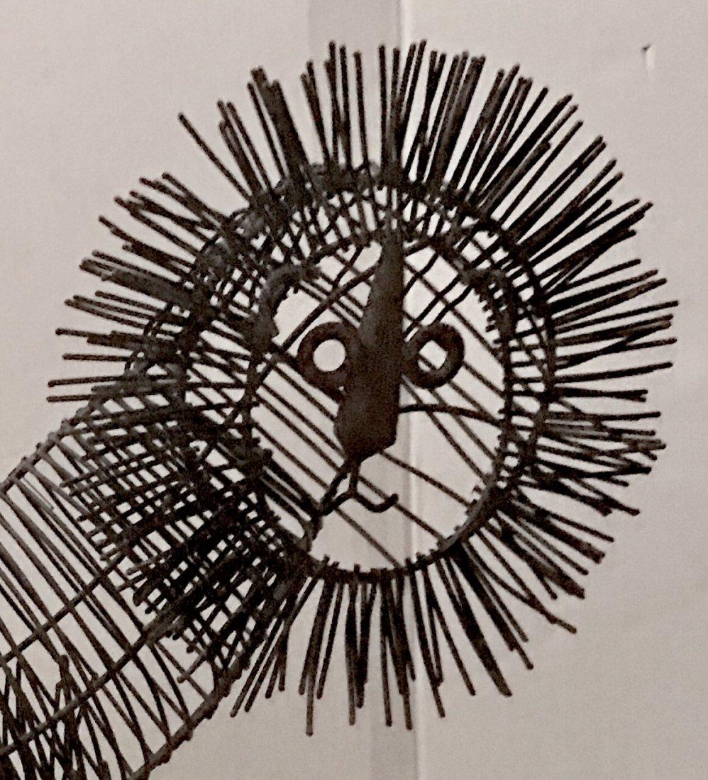"""Modernist Wire Lion Sculpture: 24"""" hgt. x 26"""" lg. - 3"""