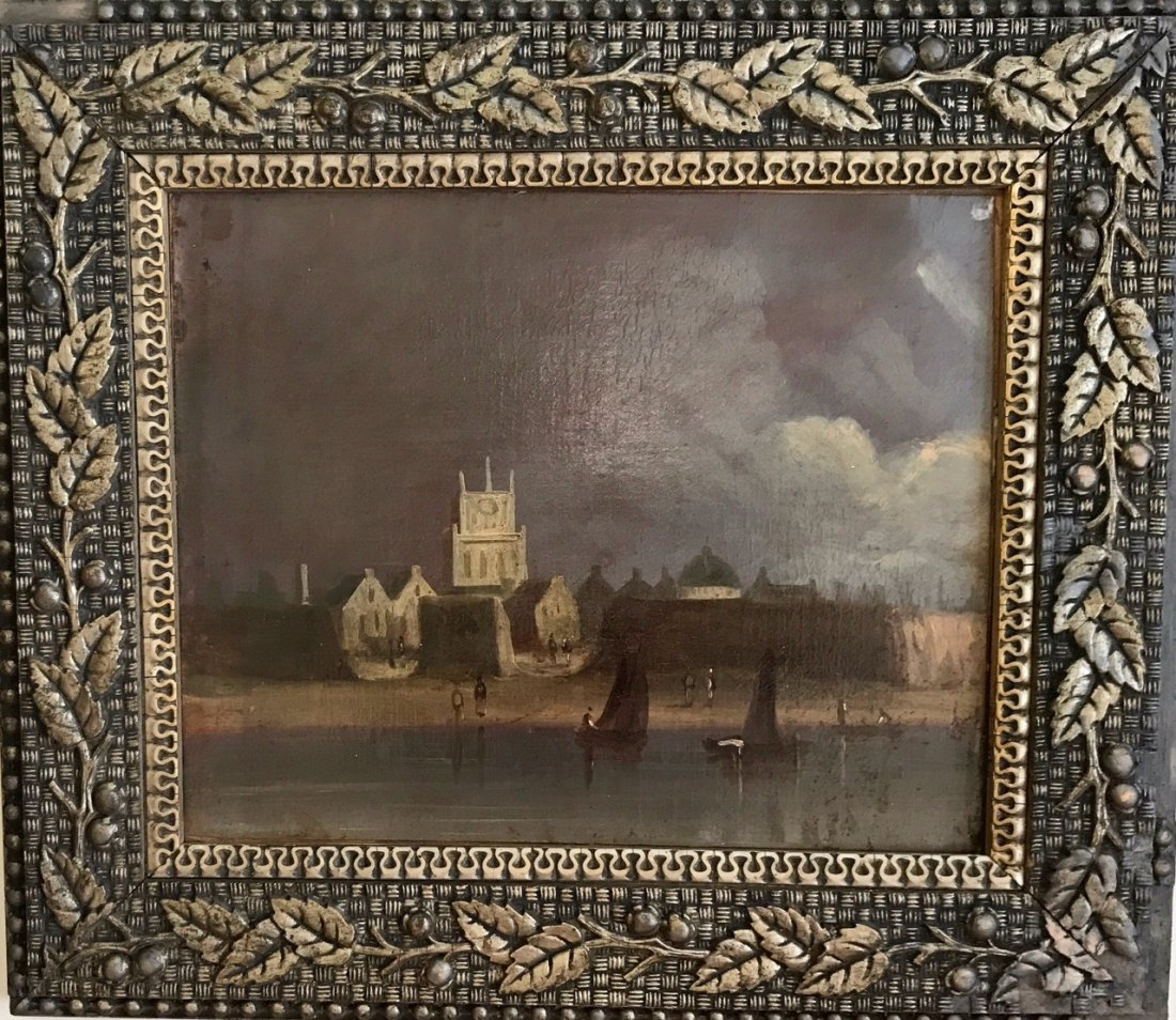 Continental School (19th Century) Oil Painting