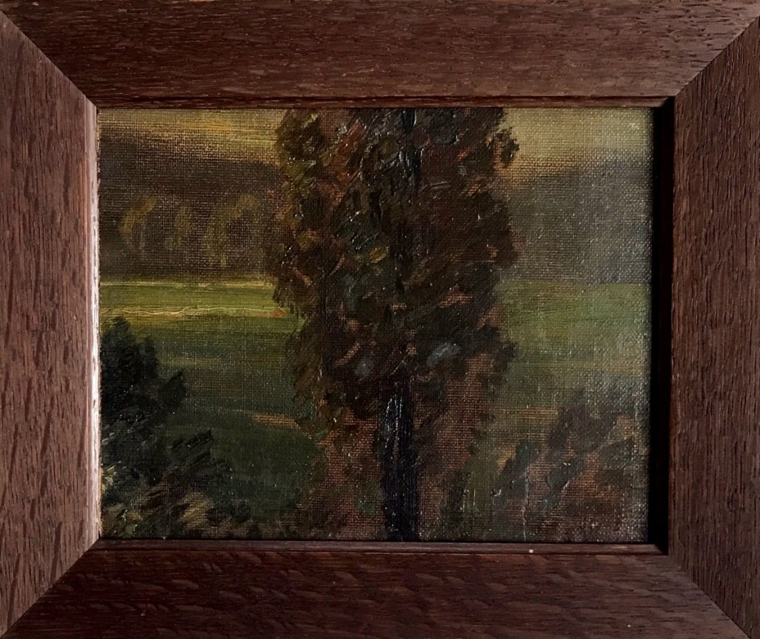 Impressionist (19th C.) Forest Landscape Painting