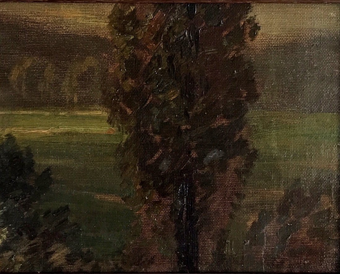 Impressionist (19th C.) Forest Landscape Painting - 2