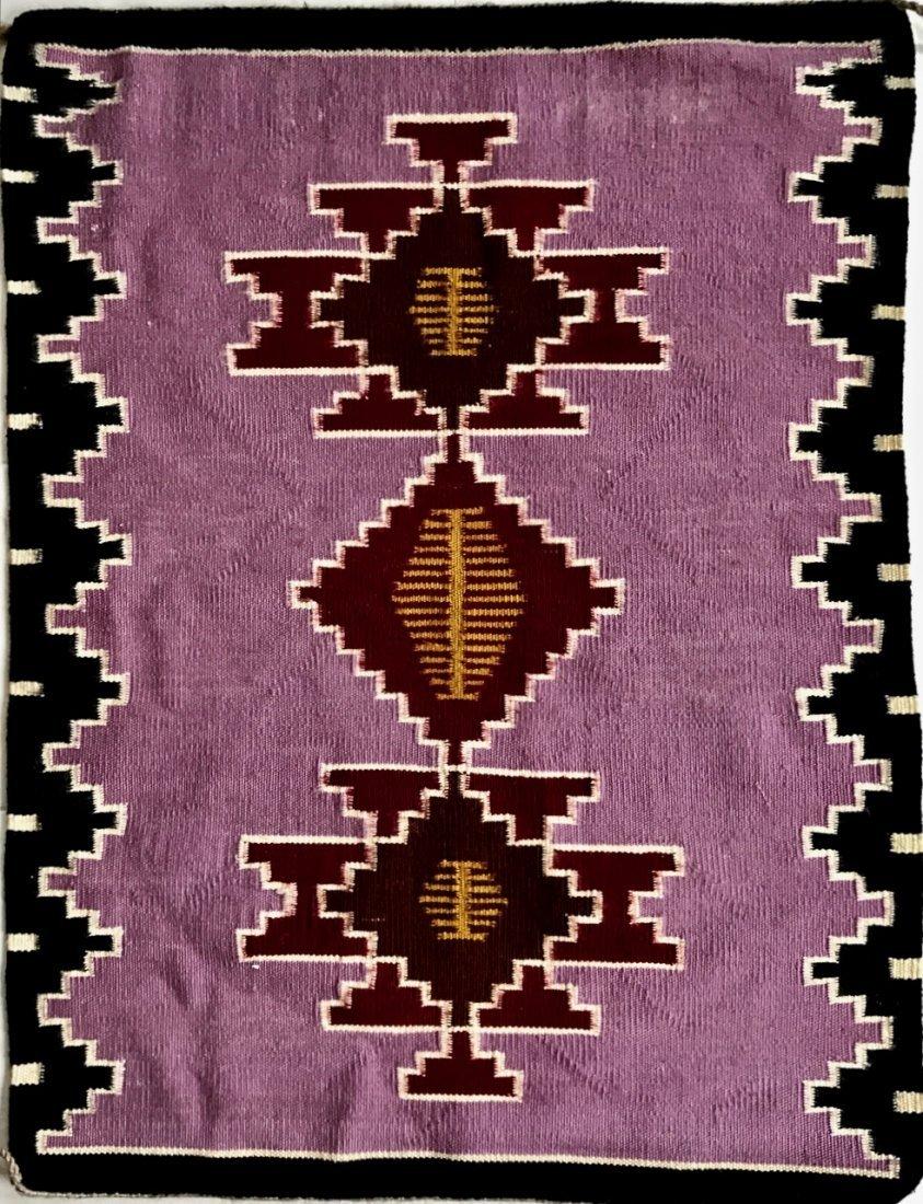 "Native American Indian Navajo Rug:  3' x 2' 4"""
