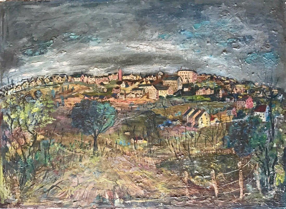 European Impressionist Landscape Oil Painting, C.1930's