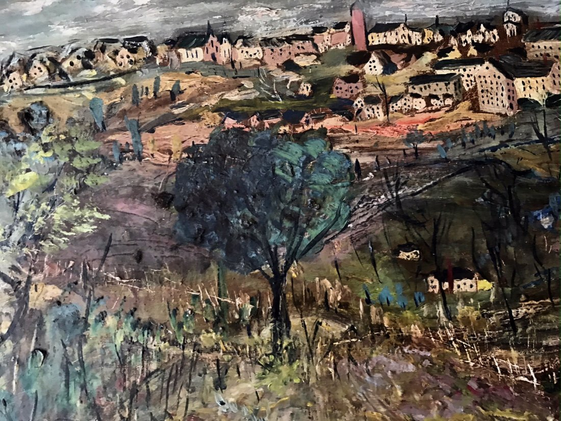 European Impressionist Landscape Oil Painting, C.1930's - 2