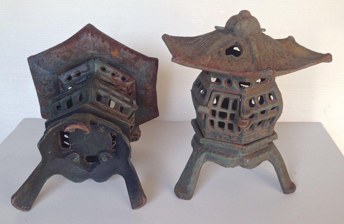Pair of Japanese Iron Lanterns - 2