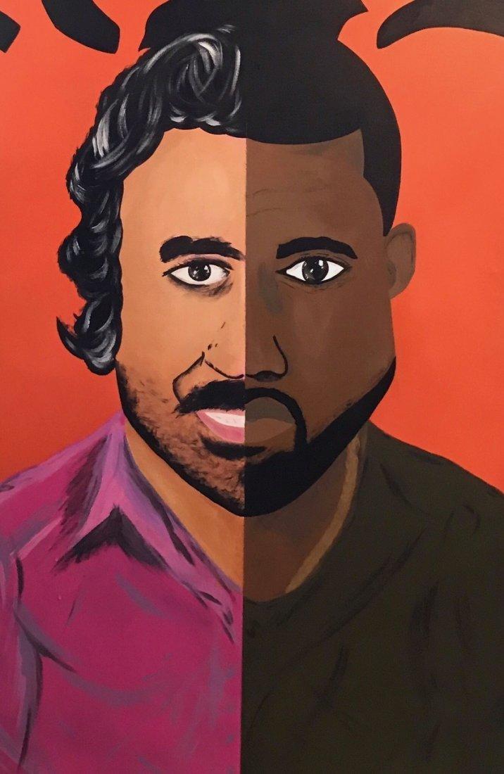 """Kanye West """"PABLO"""" Day-Glo Painting, Signed - 3"""