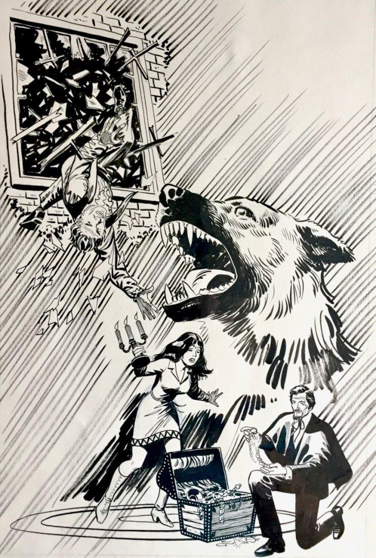 Dr. Spektor Original Comic Cover Art, Occult Files