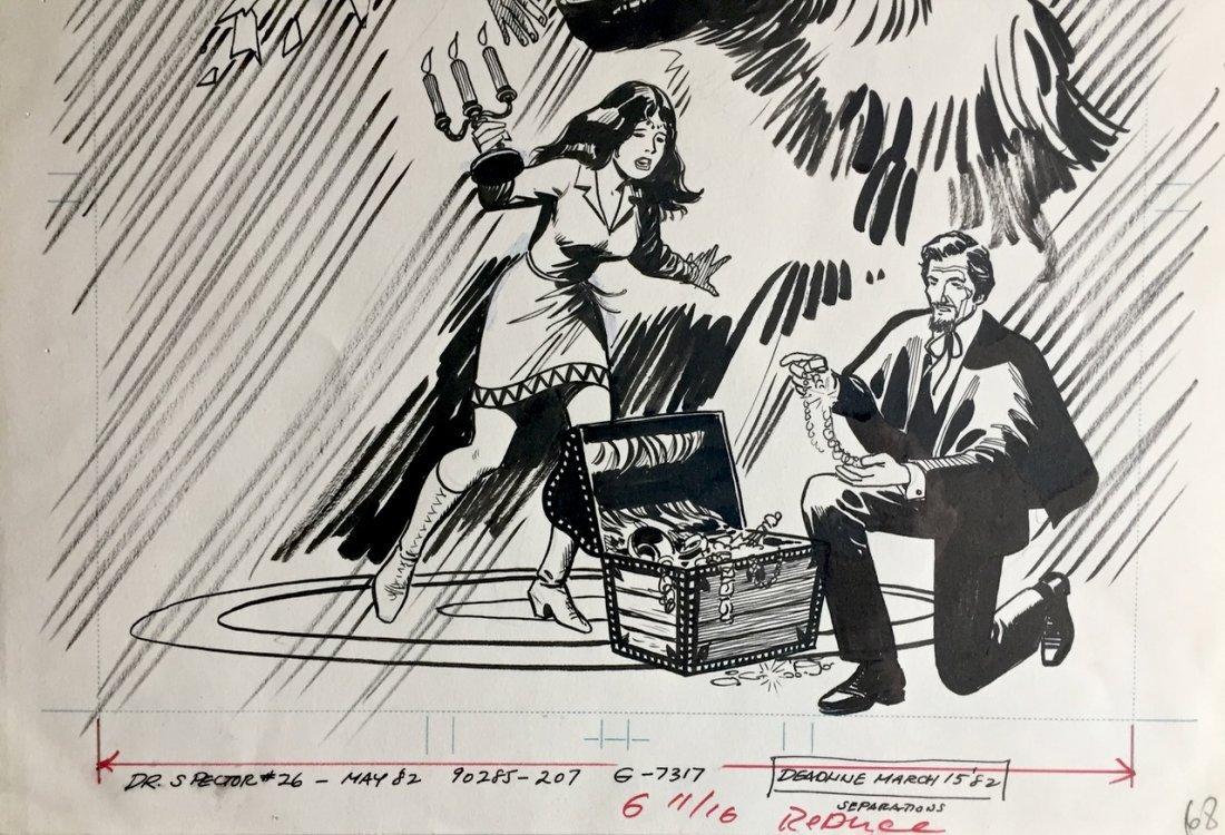 Dr. Spektor Original Comic Cover Art, Occult Files - 2